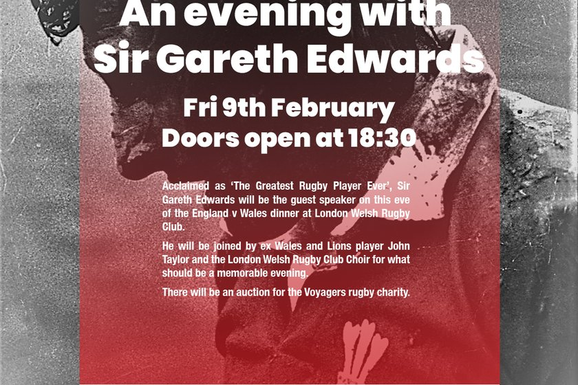 An Evening With Sir Gareth Edwards Friday 9th February 2018