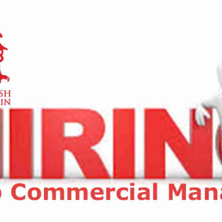 We are looking for a Commercial Manager