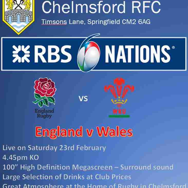 6 Nations Rugby - England vs Wales