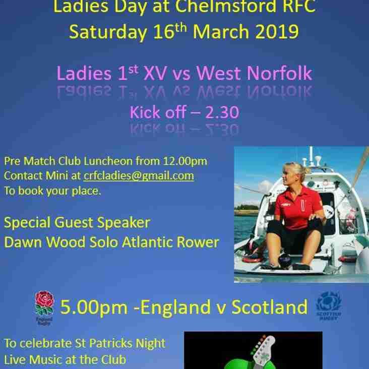 Chelmsford Ladies 1st XV vs West Norfolk