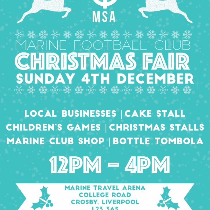 MSA CHRISTMAS FAIR THIS SUNDAY 4TH DECEMBER 2016