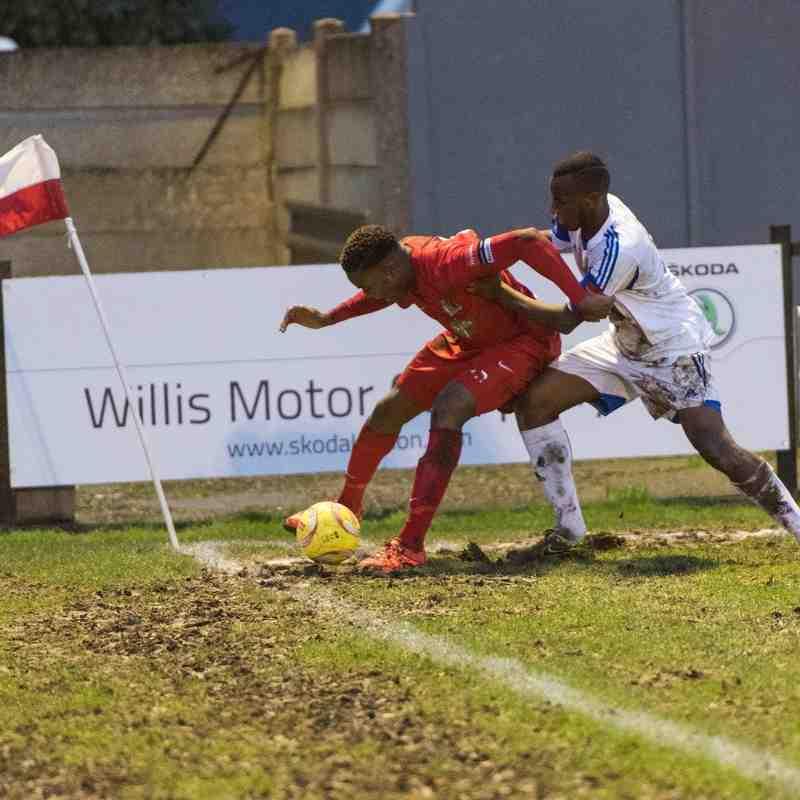 Fejiri Okenabirhie hangs on to the ball as the clock runs down.