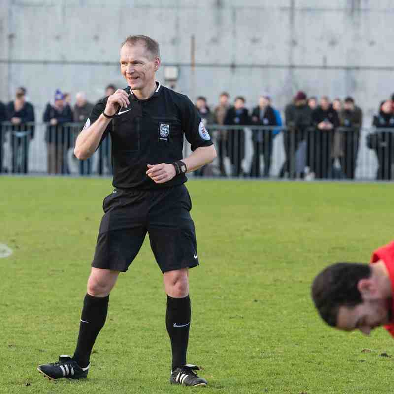 The referee enjoys the game.