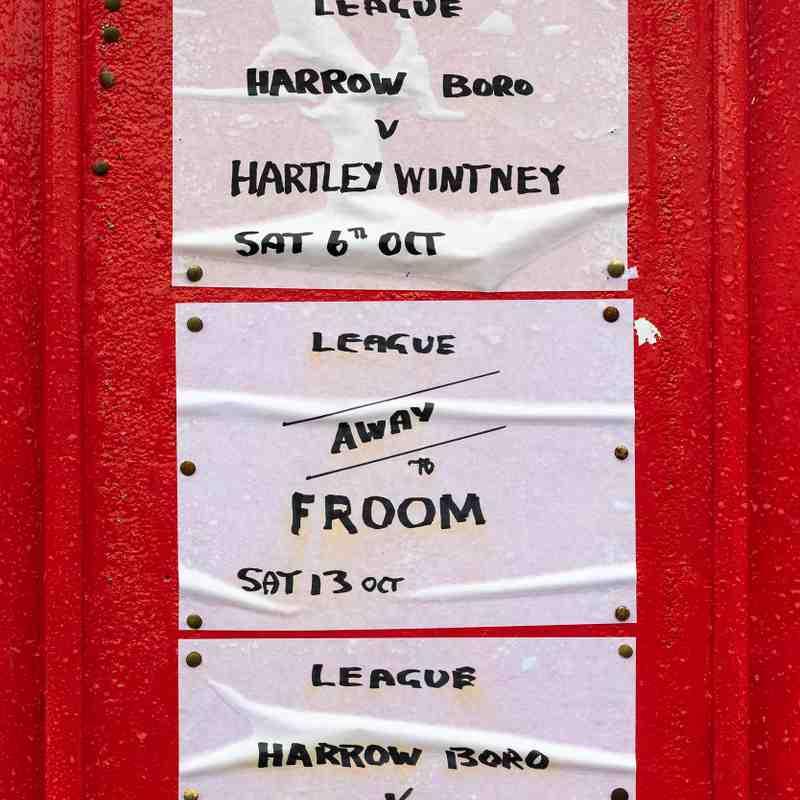 HARROW BOROUGH v Hartley Wintney, Saturday 6th October 2018