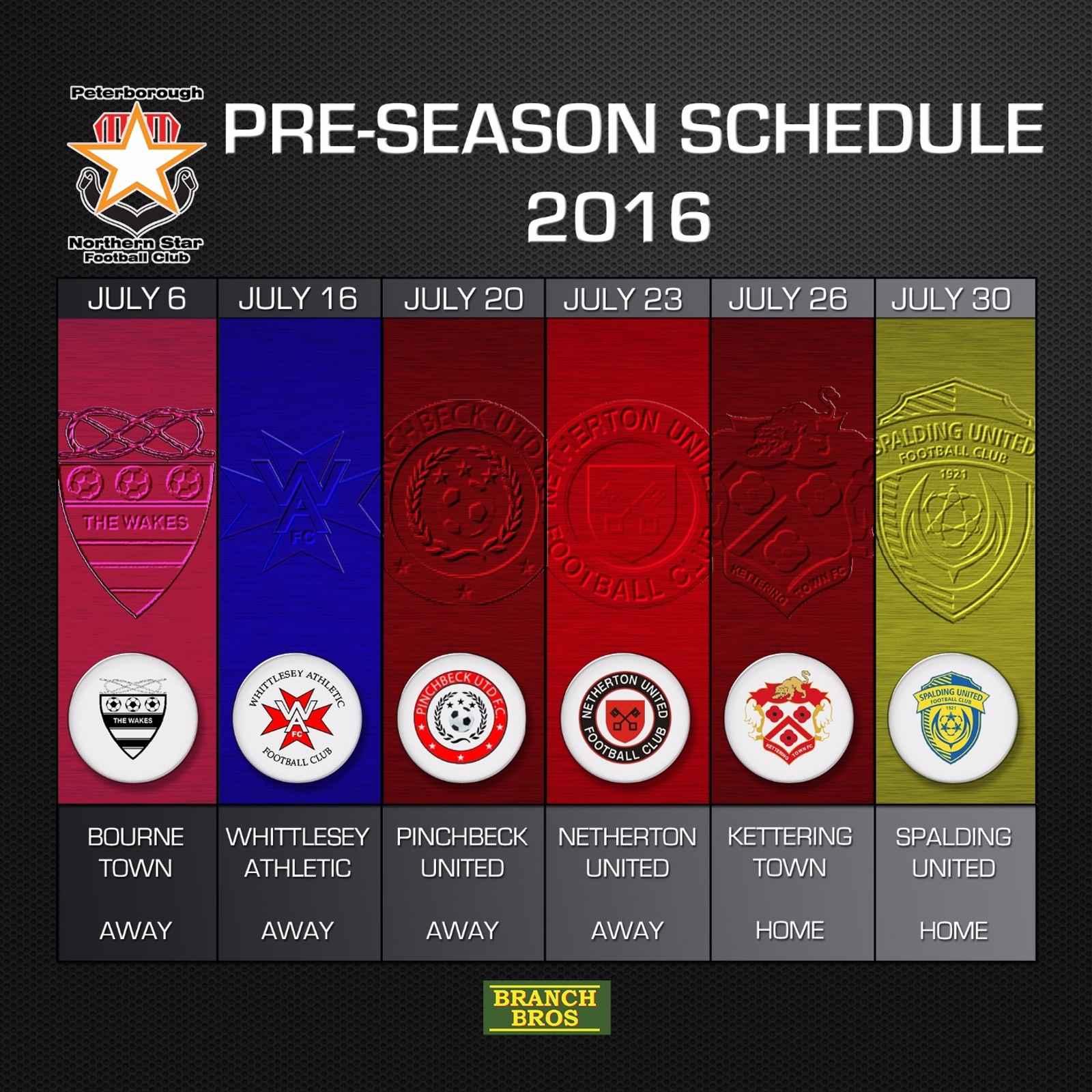 Star announce Pre-Season fixtures for 2016