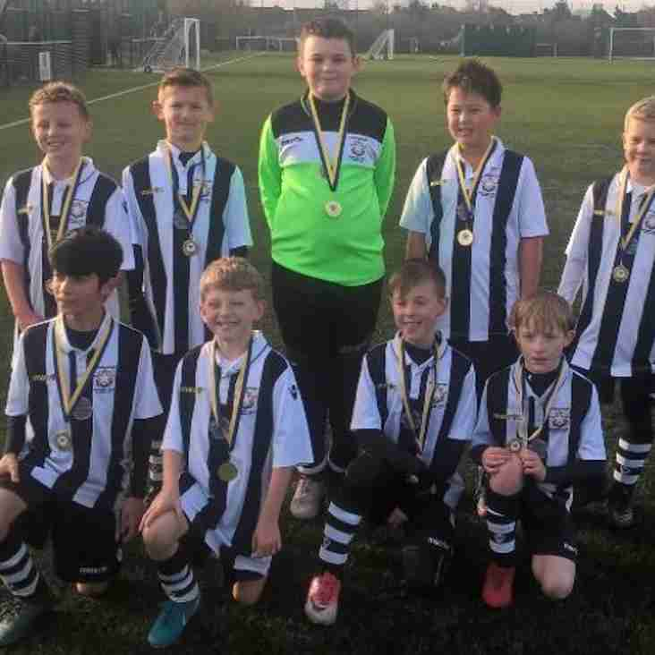 JUNIOR FOOTBALL: U10 White are medal winners