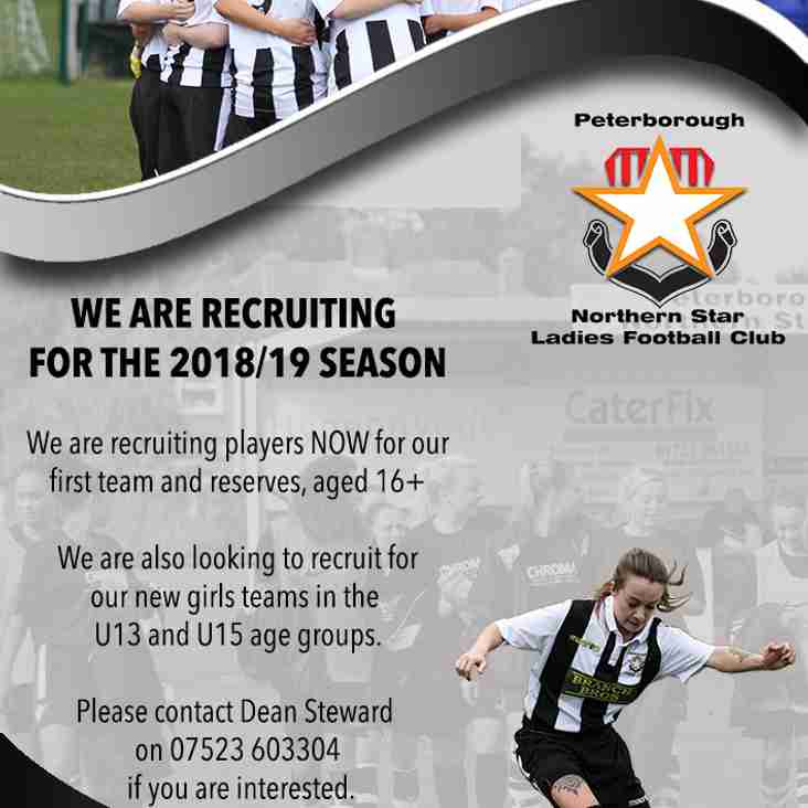 Star Ladies: Recruiting for 2018/19