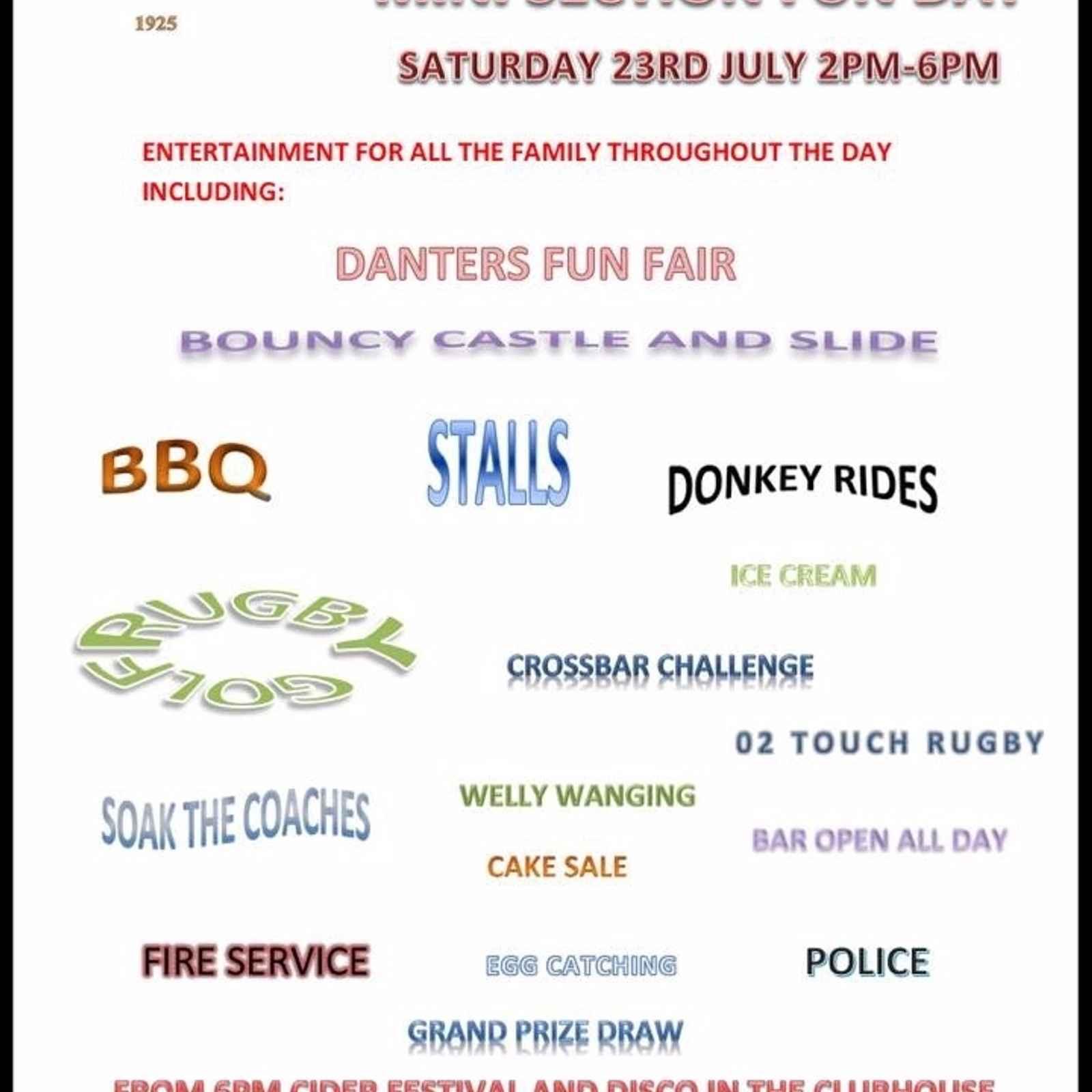 Mini Section Fun Day Saturday 23rd July