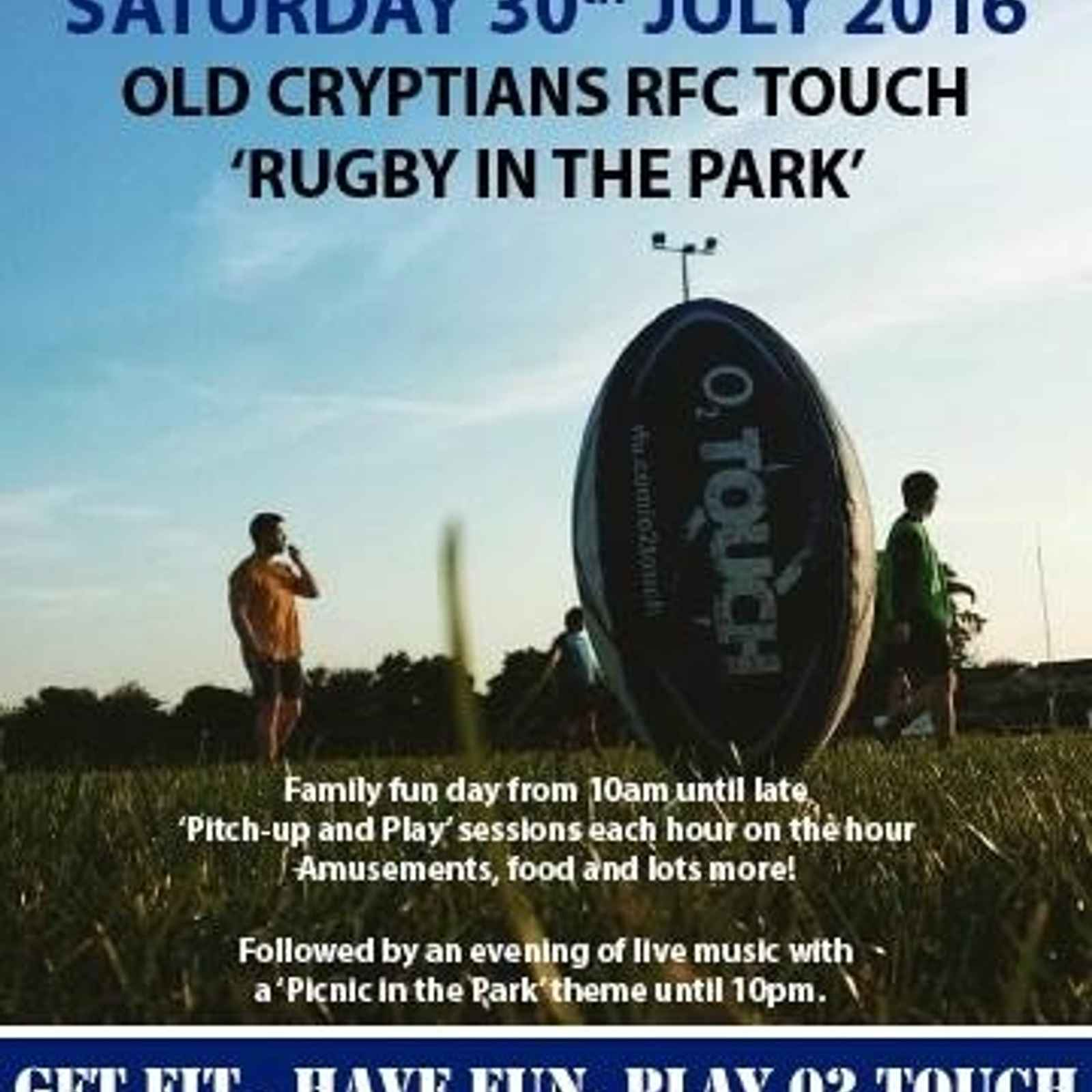 Touch Rugby Festival - Saturday 30th July