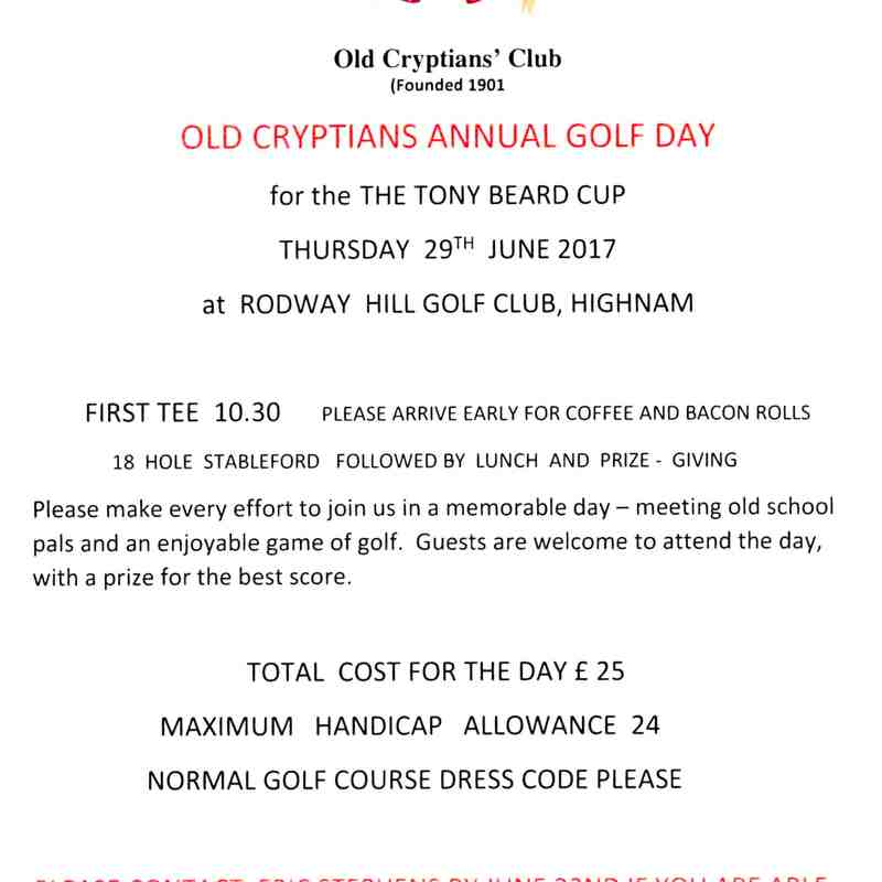 OCC Golf Day