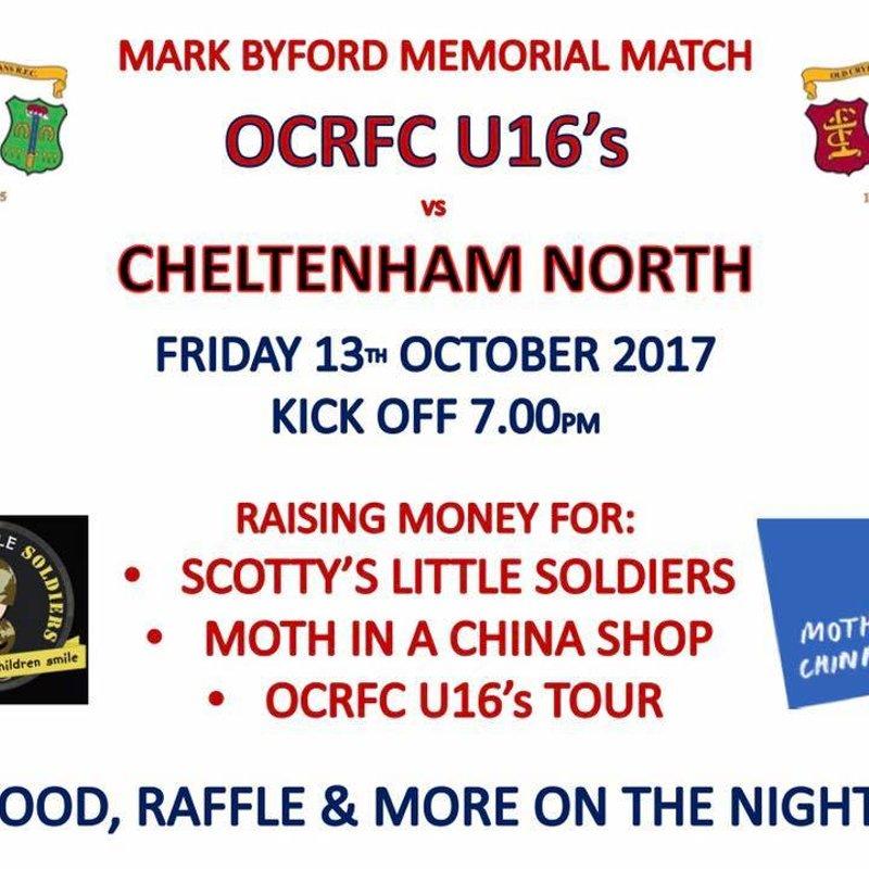 U16s Mark Byford Memorial Match