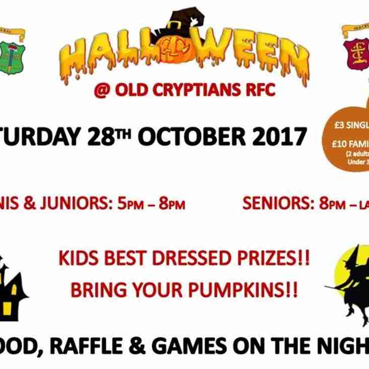 HALLOWEEN PARTY - 28th October!
