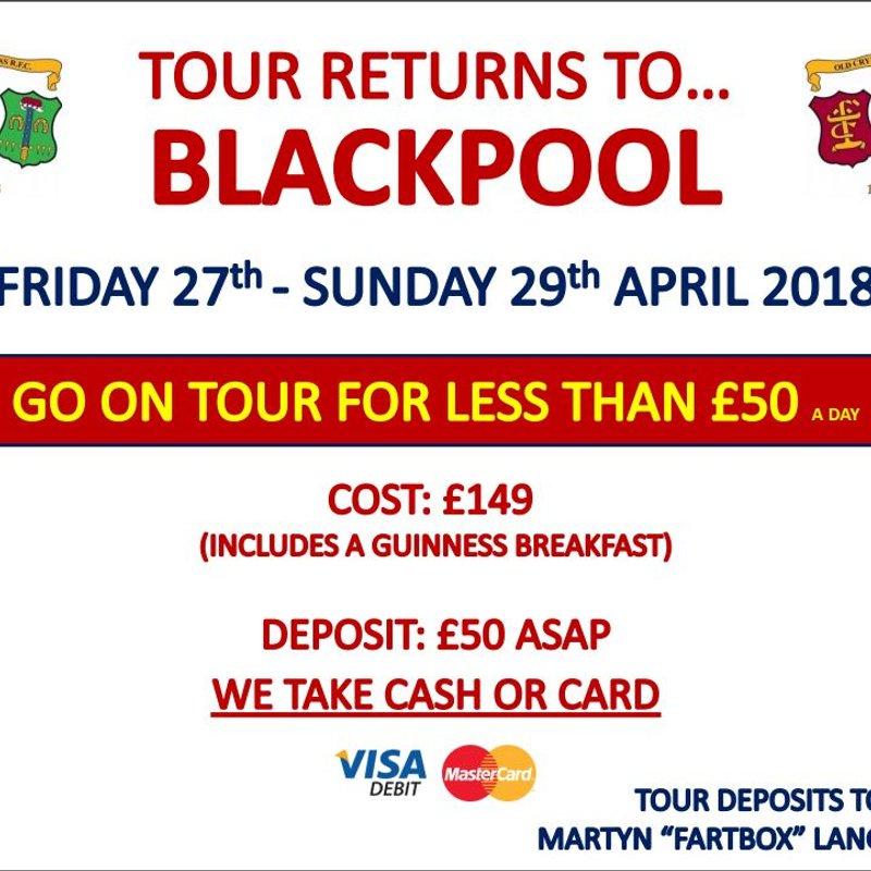 Tour returns to....Blackpool!
