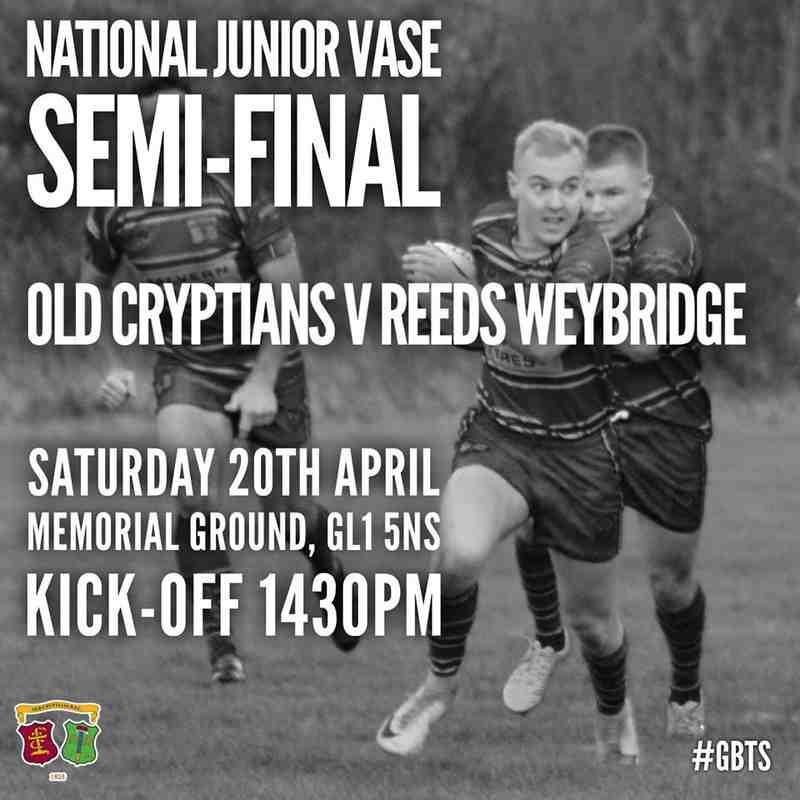 1st XV v Reeds Weybridge (H) 20.04.19