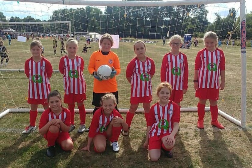 New Poggy Girls U10's make their maiden outing