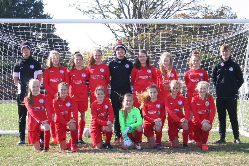 Under 13 Girls beat Brunsmeer Athletic 7 - 1