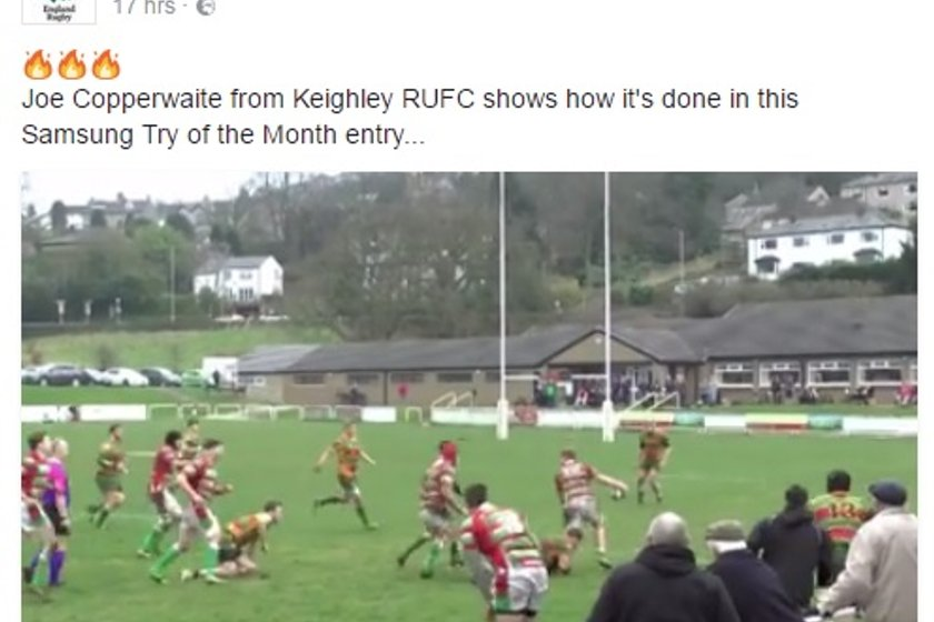 Keighley in the running for Samsung Try of the Month