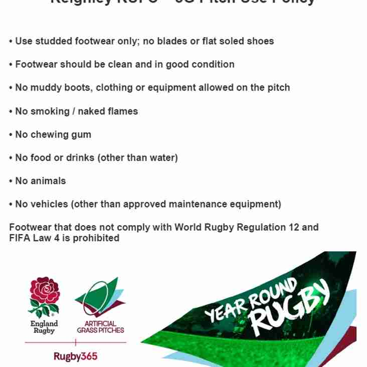 Keighley RUFC - Pitch Use Policy