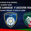 RFU U18's Academy - Yorkshire Carnegie Vs Leicester Tigers