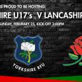 Yorkshire U17's Vs Lancashire