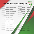 1st XV Fixtures 2018/19