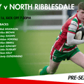 1st XV Squad to face North Ribblesdale - Pre Season Game