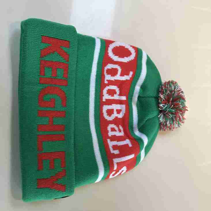 Keighley RUFC OddBalls bobble hats now in stock