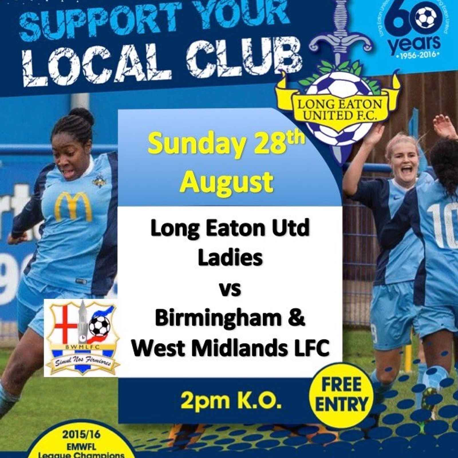 Long Eaton United Ladies v Birmingham& West Mids LFC