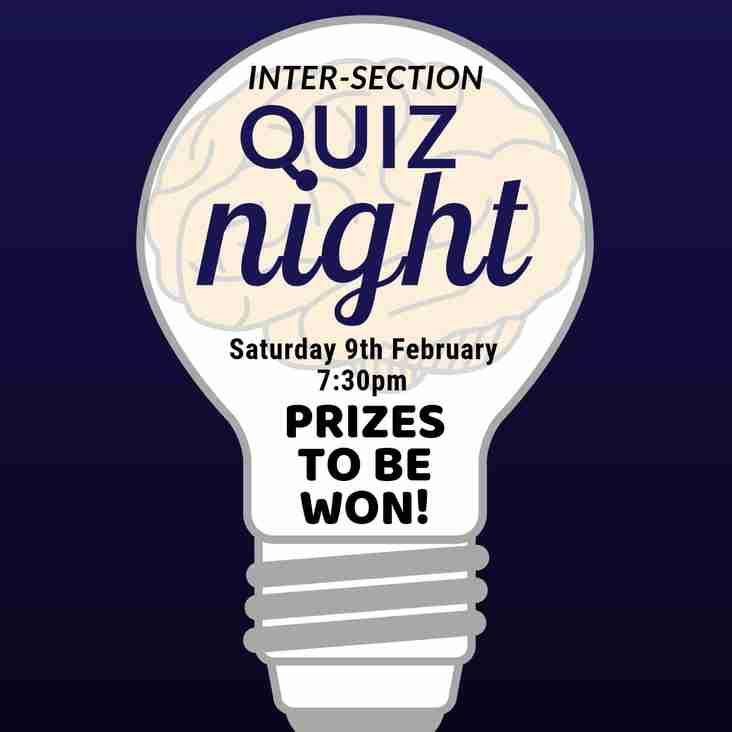 Quiz Night - February 9th 7:30pm