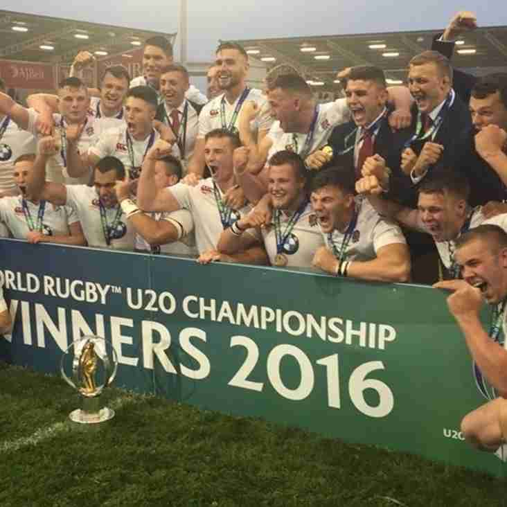 Billy Walker part of winning England U20 Rugby World Cup Squad