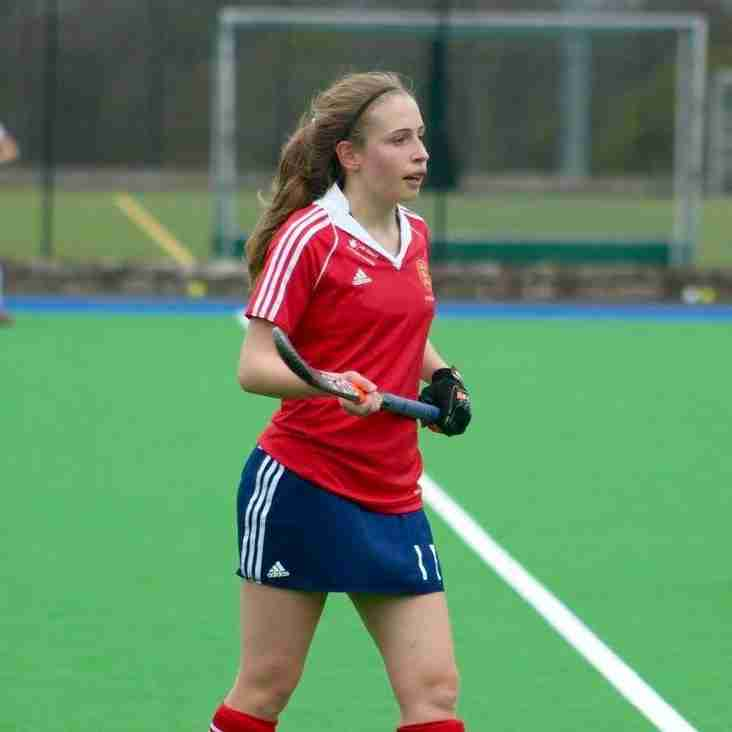 Alice Rolfe selected for England U18s in the Eurpean Championships.