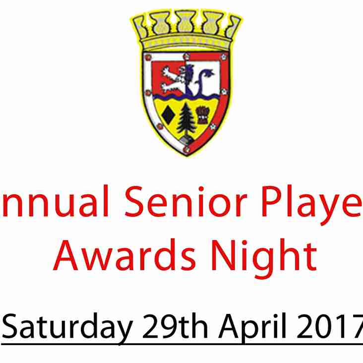 Annual Senior Players Awards Night 2017