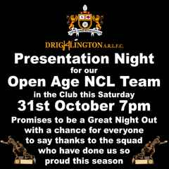 NCL Summer Open Age Team Presentation Night