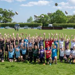 50 girls from local schools at NWRFC for a days rugby training