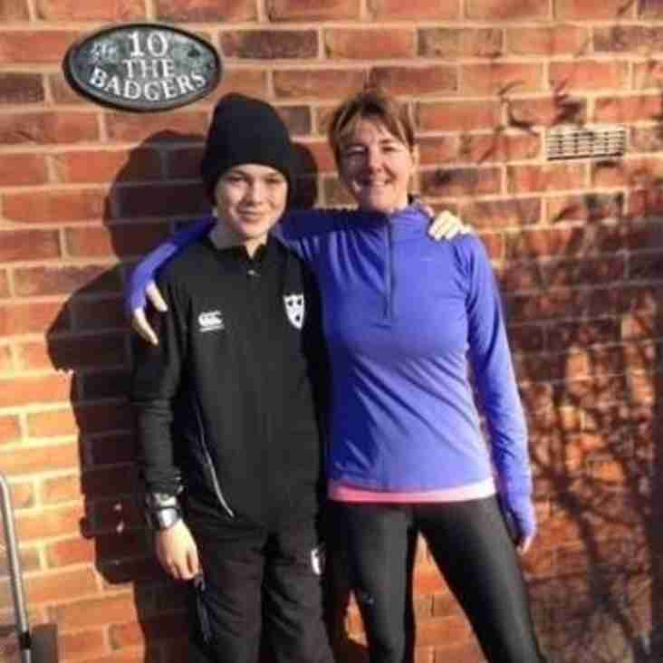 Jane in marathon run for Socks and Chocs Charity