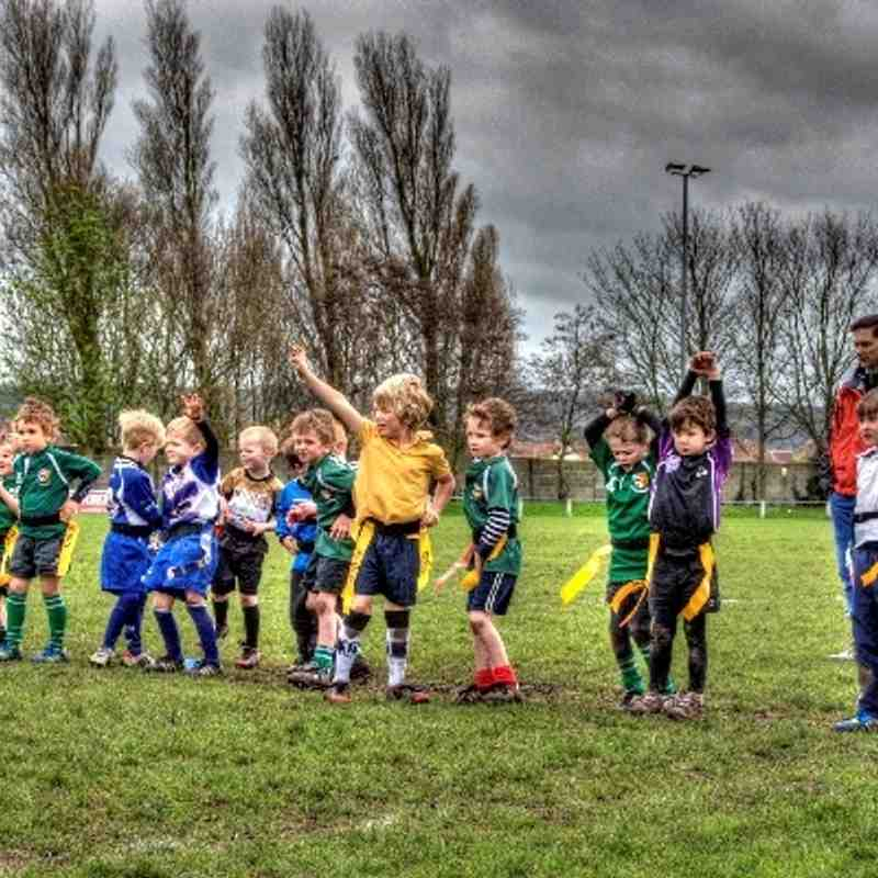 OBs U6's in action at Weston RFC