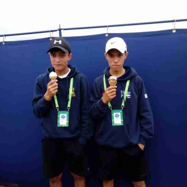 Talented duo off to play at Wimbledon!!!