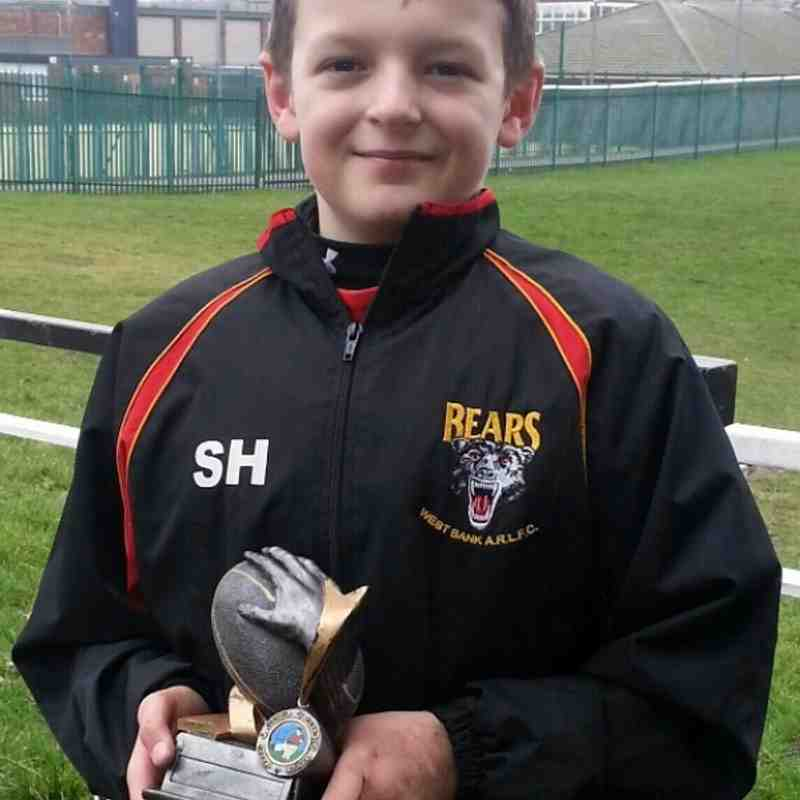 U10's Man of the match Sunday 2nd March V Blackbrook