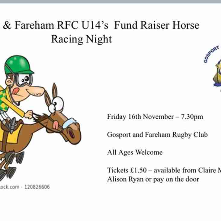 U14s Horse Racing Fundraiser Night