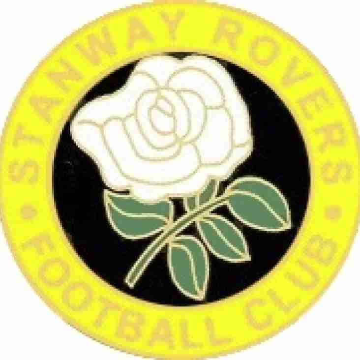 Wanderers host Stanway Rovers at the Doucy (kick off 7.45pm)