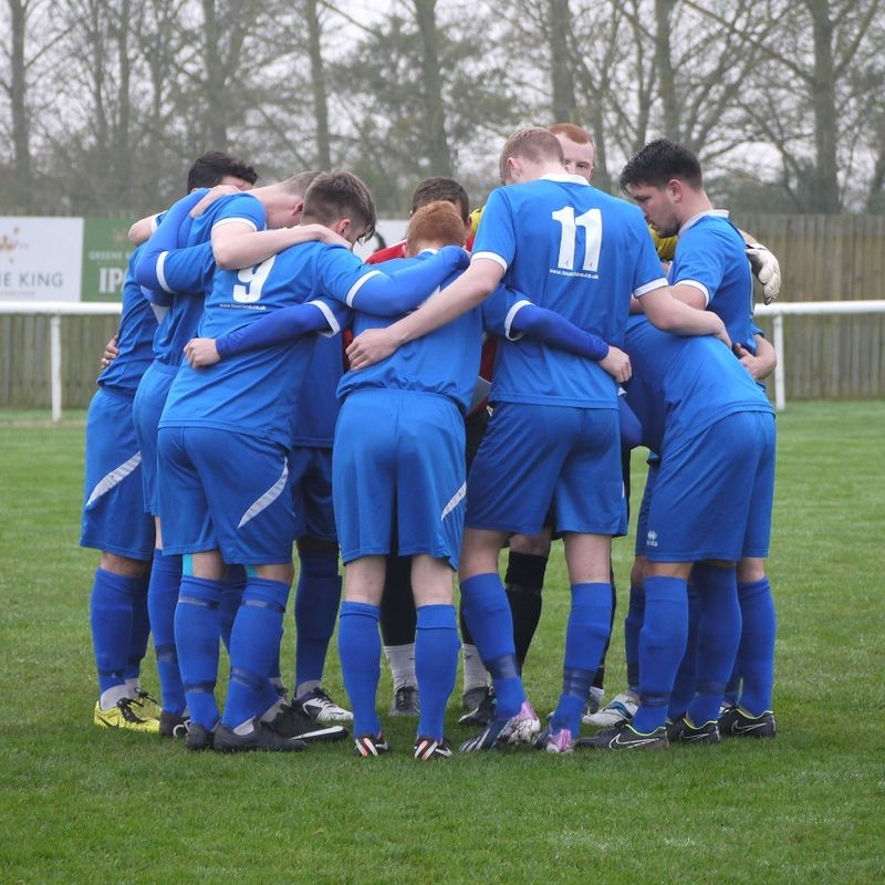 1st Team lose to Wroxham 0 - 2