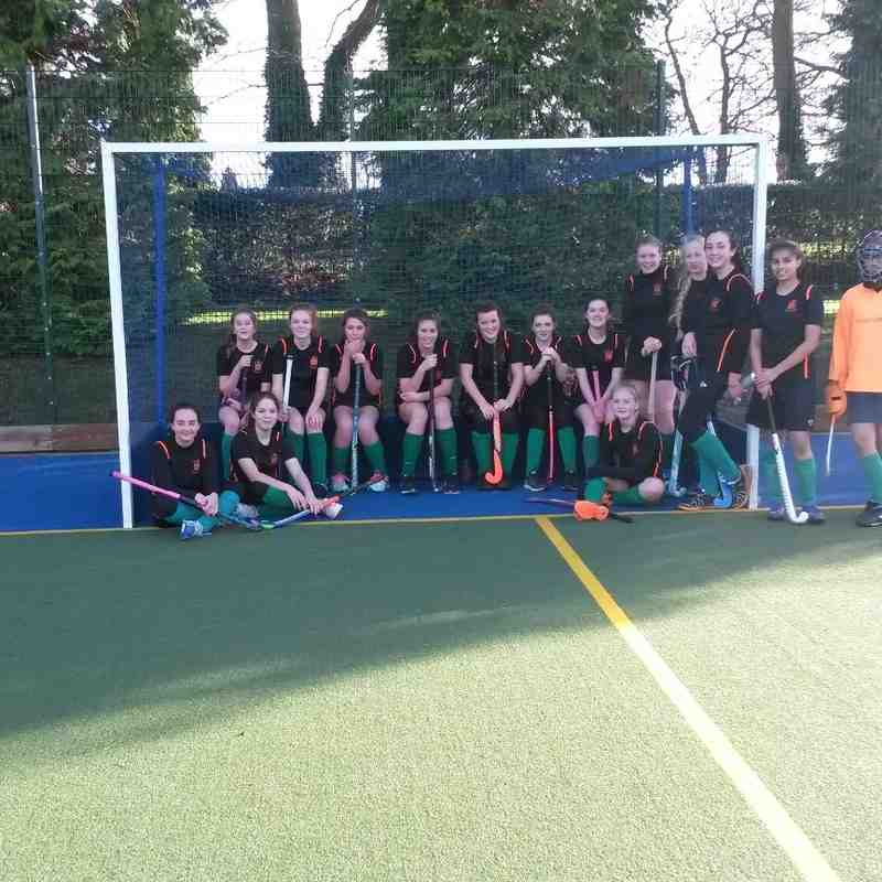 U14 girls at Wellington College 10/1/2016