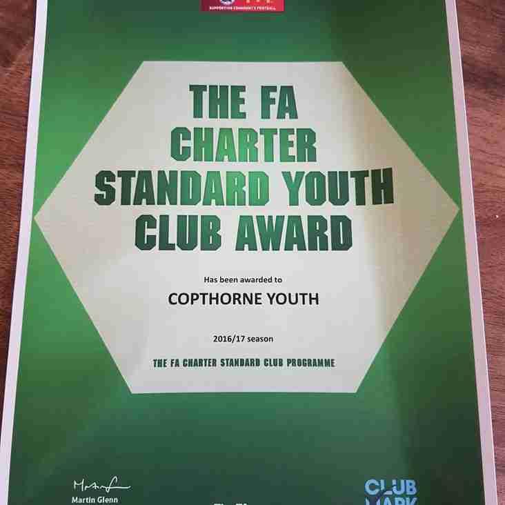 Charter Standard Award 2016/17