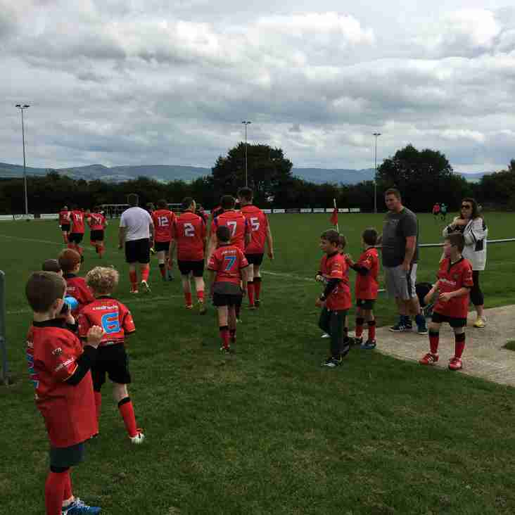 A great experience for Denbigh Under 8s, being mascots and ball boys for Denbigh 2nds, beating local rivals Ruthin 2nds