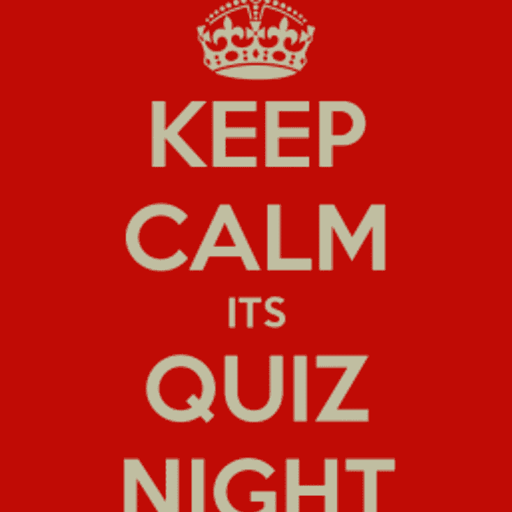 Quiz night 25th May