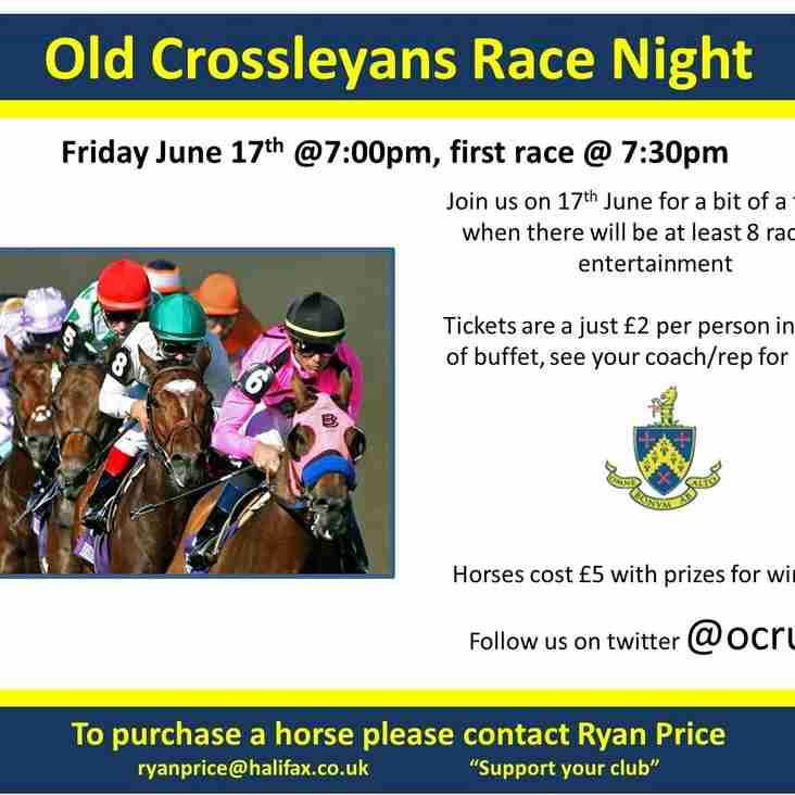 Race Night - Friday 17th June