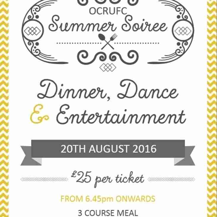 Summer Soiree - Saturday 20th August