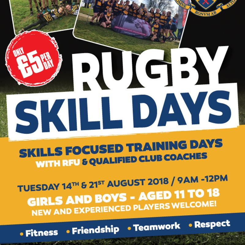 Rugby Skill Days - 14th & 21st August