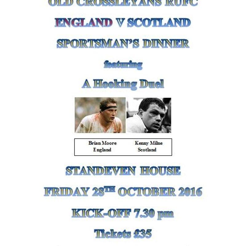Last few tickets remaining for Moore/Milner Dinner 28th Oct...