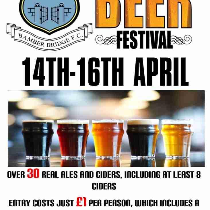 Bamber Bridge Beer Festival - 14th-16th April 2016